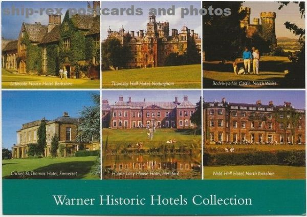 Warner Historic Hotels, multi-view postcard